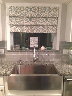 Charmant No Sew Drapes  Over Sink Tension Rods Fake Roman Shades