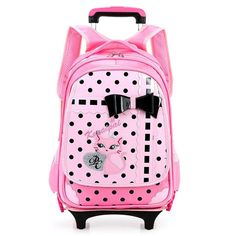 b5c20899efec New Kids Wheels Backpack Removable Trolley Backpack Wheeled Children School  Bag Girls Travel Bags Children s School Backpacks