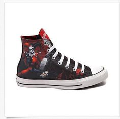 f5dcb7c51ff NEW Converse HARLEY QUINN All Star Chuck Taylor DC Comics Shoes Batman Joker