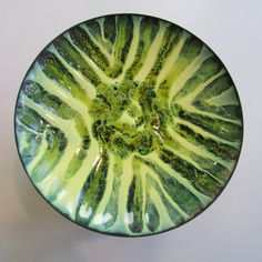 Mid Century Modern Enamel over Copper Plate. The Plate is in Diameter. Great Addition to your Mid Century Modern Home. Enamel Dishes, Mid-century Modern, Vintage Modern, Copper, Mid Century, Vase, Plates, Tableware, Pictures