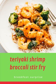 🟊🟊🟊🟊🟊 2321 teriyaki shrimp broccoli stir fry This teriyaki shrimp broccoli stir fry is ready in 30 minutes and is the perfect asian dinner when you want so Relish Recipes, Carrot Recipes, Bacon Recipes, Appetizer Recipes, Healthy Recipes, Escarole Recipes, Fennel Recipes, Lingonberry Recipes