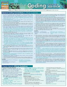 general medical coding cheat sheet