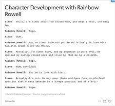 Hahahaha this is my favourite thing ever >>> i fucking adore Rainbow. i genuinely do.