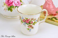 Royal Albert Moss Rose Mug Vintage English Bone China Mug