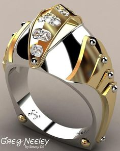 rubies.work/… Brilliant Luxury by Emmy DE * Greg Neeley Knights Vision Mens Ring