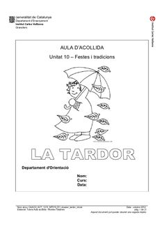 Caaco act 1213_mt019_r1_dossier_tardor_inicial Reading Comprehension, Valencia, Acting, School, Autumn, Phonological Awareness, Reading, Fall Season, Fall