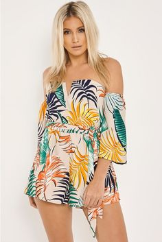 Looking for casual, holiday or going out playsuits? In The Style has the latest including floral, bardot & sequin playsuits. Things To Buy, Stuff To Buy, Palm Print, Vietnam Travel, Playsuits, Bardot, Polka Dots, Cover Up, Rompers