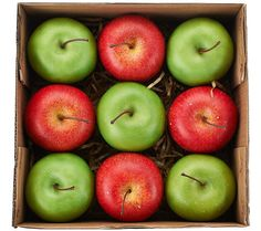 Set of 9 Decorative Apples or Pears by Valerie