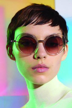 Coming into focus this summer are sunglasses frames that nod to the hardware that holds them together. At Prada, metal details have been placed directly onto the frame – vintage-inspired pilot frames are finished with visible screws and a metal double bridge. For his collaboration with Silhouette, Austrian fashion designer Arthur Arbesser has opted for a rimless style, with lenses that appear to float within their angular frames.