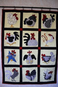 Quilting Sisters: Funny Chickens