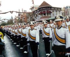 Butler Golden Tornado Marching Band - performing in Disneyland, California during our 2000 Pasadena Tournament of Roses Parade trip.  http://www.bandtravel101.com/