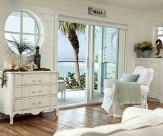 Pure White Decor in a Remodeled Vintage Beach Cottage on Anna Maria Island