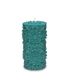 "Volcanica Dendritic Medium Pillar Candle Turquoise-3"" x 6"" Volcanica Candles http://www.amazon.com/dp/B00ZG1UUFS/ref=cm_sw_r_pi_dp_UgaHvb1E5KZ72"