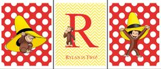 Curious George Art for Rylan's 2nd Birthday
