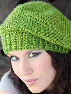 New crochet hat double beanie pattern ideas Double Crochet Beanie Pattern, Crochet Pattern Central, Crochet Hat With Brim, Crochet Slouchy Hat, Knitted Hats, Crochet Patterns, Hat Patterns, Knitting Patterns, Free Pattern