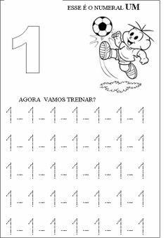 Atividade numero 1 Preschool Number Worksheets, Preschool Writing, Numbers Preschool, Preschool Printables, Alphabet Activities, Toddler Activities, Preschool Activities, Pre Kindergarten, Activity Sheets