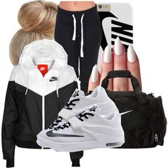 A fashion look from June 2015 featuring NIKE jackets and NIKE shoes. Browse and shop related looks.