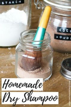 Homemade Dry Shampoo - Zero Waste Nerd. I'm curious to see how well this works!
