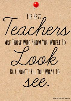 Teacher appreciation quotes. Thanks Momcaster Loves Teachers for the quote!