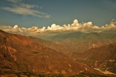 The Great Canyon (of Chicamocha) by David Meza-Pretelt on Belleza Natural, World Of Warcraft, David, Clouds, Landscapes, Outdoor, Countries, Colombia, Naturaleza