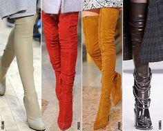 Tendencia Inverno 2014..lindas botas longas...belas cores..... DICA USAR COM PONCHO ...