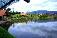 Waterfront dining: Lembang's Floating Market at Jl. Grand Hotel Lembang No. 33E is the place to go for a unique waterfro...