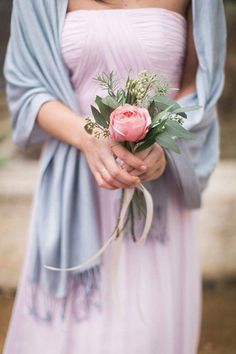 A pink and gold glittering Southern wedding with a stunning beaded wedding dress, winter pastel bridesmaids, and sparkling sequins on everything! Pastel Bridesmaids, Winter Bridesmaids, Bridesmaid Flowers, Trendy Wedding, Boho Wedding, Dream Wedding, Wedding Blue, Wedding Dress, Small Wedding Bouquets