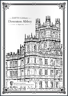 1 - select pages from the official Downton Abbey BAFTA event Brochure ..