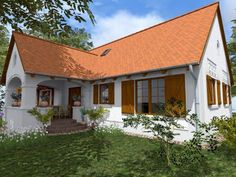A vályogház és az egészséges, kiteljesedett élet találkozása Home Building Design, House Design, Country Modern Home, Mediterranean Style Homes, Weekend House, Natural Homes, Cottage Interiors, Facade House, Scandinavian Home