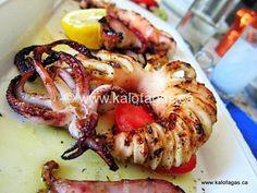 Grilled Calamari and Cumin - Kalofagas - Greek Food & Beyond