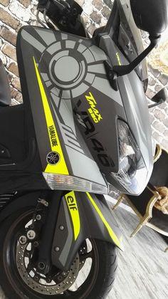 Scooter Design, Bike Design, Fz 16, Fox Motocross, Yamaha Nmax, Bike Stickers, T Max, Custom Paint Jobs, Car Wrap