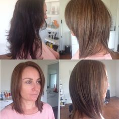 Coloured, very dark brown, long hair and we did a full head of fine slices throughout, to create this natural toffee tone. #organiccoloursystems never ceases to amaze me. Stunning colour!! #organiccolour.  From Organic Colour Systems Salon, Publik on the Gold Coast.