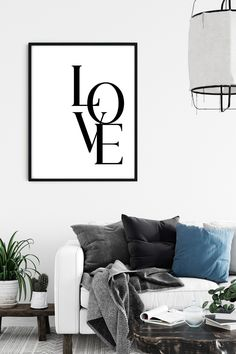 Love Print, Printable LOVE, Love Wall Art, Love Digital Print, Love Poster, Downloadable Prints, Love wall decor, Love valentines day print Love Wall Art, Love Posters, Printable Quotes, Love Valentines, Digital Prints, Wall Decor, Printables, Handmade Gifts, Etsy
