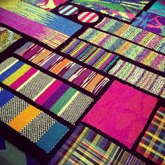 Loving these @Missoni knit swatches that we got an exclusive look at during our visit to London's @fashiontextilemuseum as part of their upcoming exhibition #missoniartcolour opening 6 May. Picture  captured by #wgsneditor @skliarovaj
