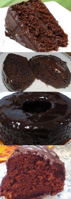 Bolo De Chocolate Molhadinho #bolo #delicia #chocolate #comida
