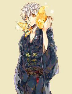 touken ranbu and nakigitsune imageの画像 Kaneki, Touken Ranbu Nakigitsune, Manga Art, Anime Art, Fox Boy, Mutsunokami Yoshiyuki, Otaku, Cute Anime Guys, Anime Boys