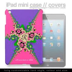 Customizable Name/Monogram Purple Pink Funky iPad Mini Cases