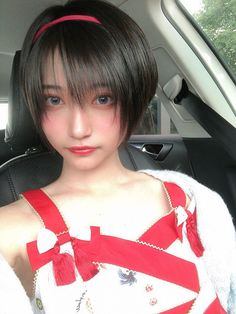 """Long time no see! Beautiful Japanese Girl, Japanese Beauty, Asian Beauty, Cute Asian Girls, Cute Girls, Short Hairstyles For Women, Girl Hairstyles, Prity Girl, Short Hair With Layers"