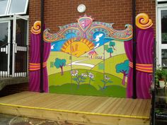 Great idea for a school stage!