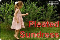 Pleated sundress tutorial.