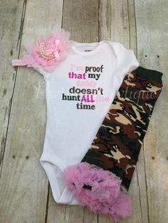Too funny! I'm proof that my DADDY doesn't hunt all the by PrettysBowtique