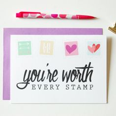 Items Similar To Youre Worth Every Stamp Greeting Card Long Distance Boyfriend Gift On Etsy