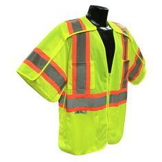 Radians Hi Vis Green Breakaway Surveyor Vest Class 3 Disaster Preparedness, Green And Orange, Rain Jacket, Contrast, Windbreaker, Vests, Sleeves, Jackets, Fashion