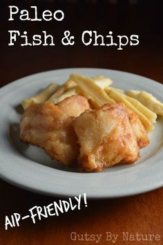 I was pretty sure I had nailed this recipe for paleo fish and chips the minute I took the first filet out of the fryer and broke through the crispy coating. Popping that morsel in my mouth confirmed it and instantly took me back to my Wisconsin childhood. Autoimmun Paleo, Paleo Chips, Gluten Free Fish And Chips, Paleo Pizza, Paleo Food, Seafood Recipes, Cooking Recipes, Paleo Fish Recipes, Paleo Meals