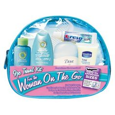 Mommy kit - shampoo conditioner deodorant toothbrush toothpaste