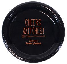 Cheers Witches Halloween Plastic Plates