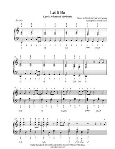 Let It Be by The Beatles Piano Sheet Music | Advanced Level