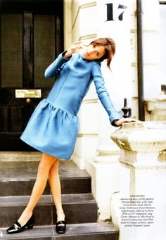 Perfect shade of blue in this dress    via http://i-know-something-you-dont-know.com