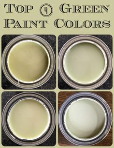 Picking Green Paint Colors: Georgian Green, Mesquite, Lilly Pad, and Guilford Green by Benjamin Moore