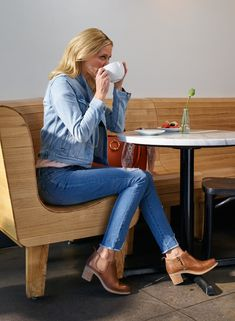 Shop the Harlene in tan! Dansko Boots, Fall Booties, Plantar Fasciitis, How To Make Shoes, Complete Outfits, Bell Bottom Jeans, Footwear, Clothes For Women, My Style